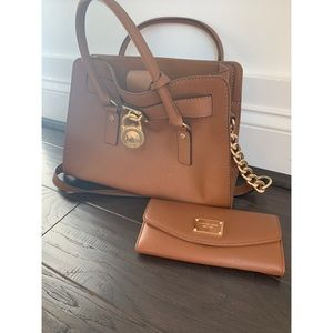 🆕 Michael Kors- Brown Leather Purse /Wallet Set